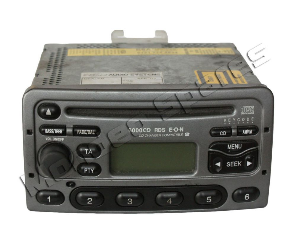 Ford 6000 Rds Eon Silver Cd Player Radio Mondeo Cougar